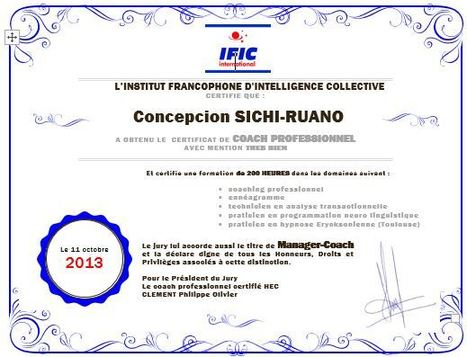 Nouveau coach professionnel et manager-coach IFIC – formé aux pratiques de l'institut IFIC (option intelligence collective) | Coaching de l'Intelligence et de la conscience collective | Scoop.it