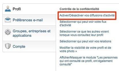 Linkedin: comment activer et désactiver la diffusion de vos activités