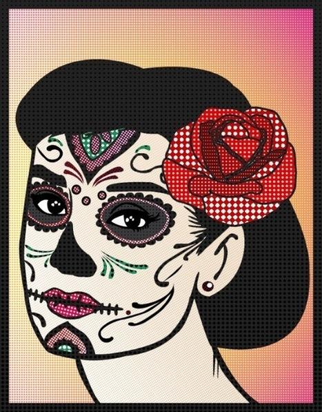 Day of the Dead Audrey Hepburn | Le Pan II Sells on Amazon Shop . | Scoop.it