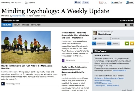 Minding Psychology: A Weekly Update - May 30 | Psychology Professionals | Scoop.it