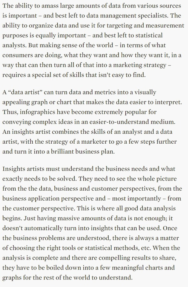 Marketers Need Insights Artists, Not Data Scientists - AdExchanger | The Marketing Technology Alert | Scoop.it