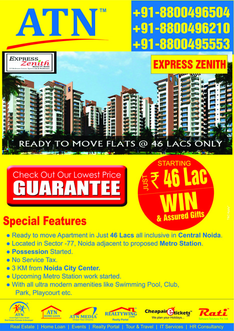 Ready To Move with Zenith Express Noida | Residential Projects in Noida | Scoop.it