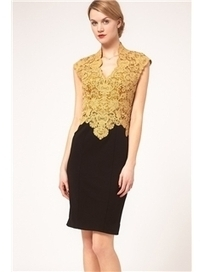 $ 53.99 Sexy V-neck Lace Embroider Sleeveless Little Party Dress   Fashion women   Scoop.it