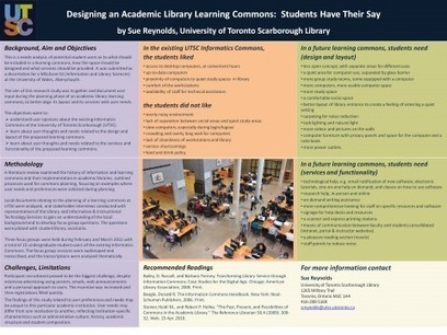 Designing an Academic Library Learning Commons: Students Have Their Say « Dysart & Jones | School Library Design Planning | Scoop.it