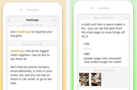 Better Notes. La prise de notes sur mobile avec hashtags – Best Outils | Gestion de l'information | Scoop.it