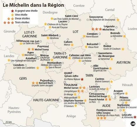 La carte régionale des étoilés du Michelin | L'info tourisme en Aveyron | Scoop.it
