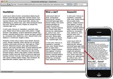 Tutorial Responsive webdesign via CSS media queries | GUI icons | Scoop.it