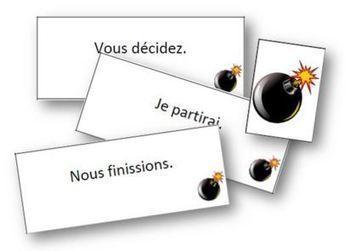 Tic-tac bombe - infinitif et groupe des verbes | Apprendre le français Bachillerato | Scoop.it