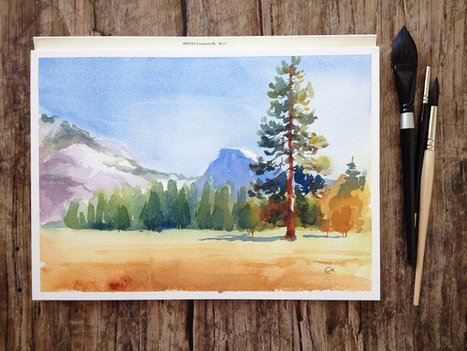 Create a Watercolor Landscape Painting in 5 Easy Steps | Circolo d'Arti | Scoop.it
