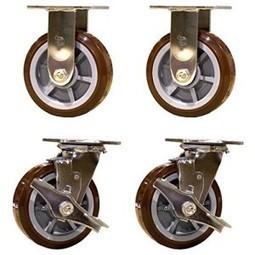 "6"" Heavy Duty Swivel Casters - 2 with Brakes Polyurethane Wheel Set of 4   Best Standby Generators   Scoop.it"