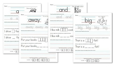 Educational Freebie: Kindergarten Pre-Primer Sight Word Sentence Worksheets | Money Saving Mom® | Sight Words | Scoop.it