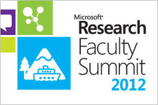 Faculty Summit 2012 - Microsoft Research | Complex Insight  - Understanding our world | Scoop.it