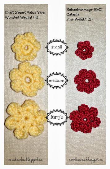 Crochet Flower Embellishments - in multiple sizes | Crochet | Scoop.it