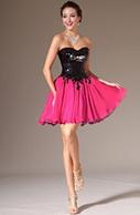 [EUR 69,99] eDressit 2014 Nouveauté  Robe de Soirée/ Cocktail Courte Rose avec Sequin Noir (04140212)   les plus belles robes de soirée   Scoop.it