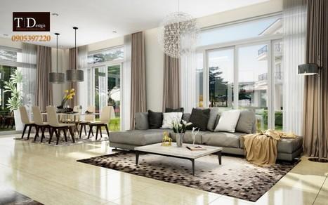 Mẫu thiết kế nội thất biệt thự phòng khách đẹp nhất - TDESIGN | ban buon quan ao tre em xuat khau | Scoop.it