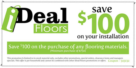 Installation Coupon | Flooring Trends | Scoop.it