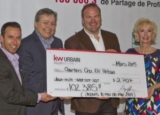 Quebec's first Keller Williams brokerage KW Urbain celebrates $100,000 milestone | REM | Real Estate Magazine | Keller Williams Urbain | Scoop.it