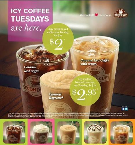 Second Cup Canada: $2 Medium Iced Coffee Every Tuesday ...   Coffee Lovers   Scoop.it