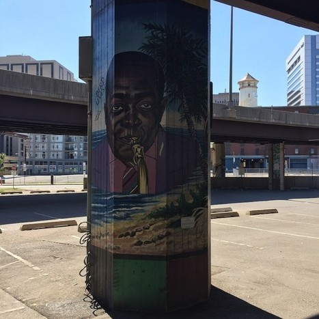 Staring back at Charlie Parker on Pontella Mason's 'Bebop' mural under I-83 on the jazz great's birthday | Jazzpell | Scoop.it