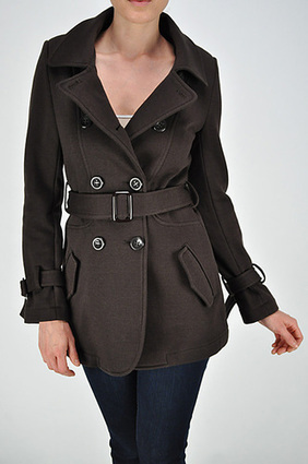 DOUBLE BUTTON PEACOAT WITH BELT SAVE UPTO 60% | FREE SHIPPING | Women's Clothing at Bvira.com | Scoop.it