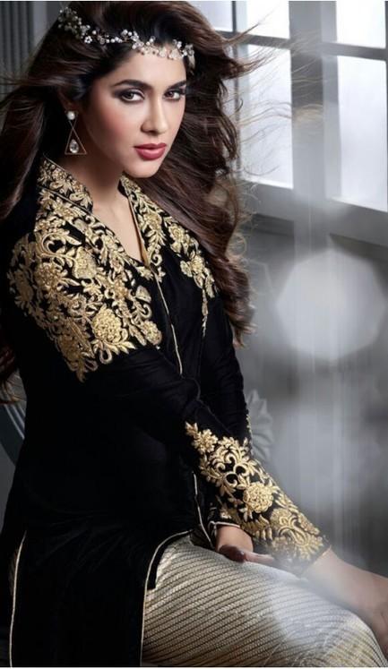 New Designer Salwar Kameez Velvet with Embroidered Style | FH375562068 | fashionheena.com | Scoop.it