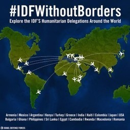 #IDFWithoutBorders: Map of IDF Aid Delegations Around the World | peace and love | Scoop.it