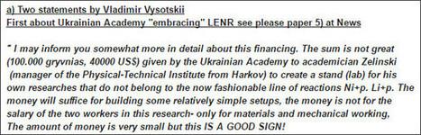 素人が知りたい常温核融合: ウクライナ科学アカデミーが常温核融合研究に投資 | LENR revolution in process, cold fusion | Scoop.it