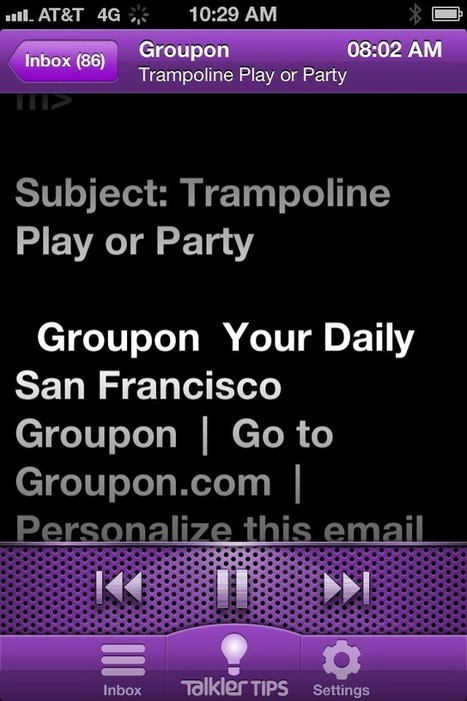 iPhone App Reads Your Emails Out Loud   Go Go Learning   Scoop.it
