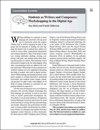 Students as Writers and Composers: Workshopping in the Digital Age - National Writing Project | 6-Traits Resources | Scoop.it
