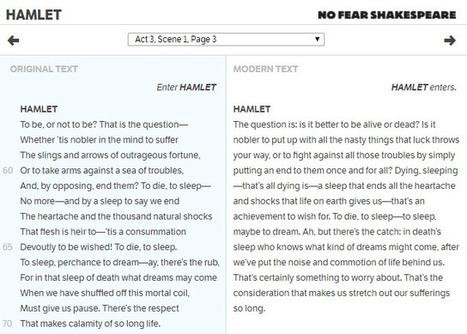 Read Shakespeare Side-by-Side in a Modern Translation | Cool School Ideas | Scoop.it