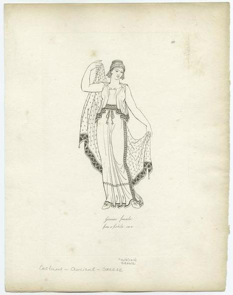 Grecian female : from a fictile vase - ID: 817424 - NYPL Digital Gallery | Pequeñas historias de Grecia y Roma | Scoop.it