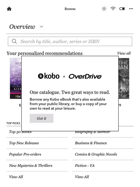 Kobo Firmware v4.0.7523 Adds Library eBooks to the Aura One (Screehshots) | The Digital Reader | MioBook...News! | Scoop.it