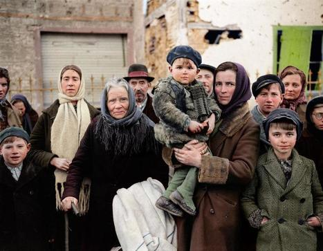 Colorized Photos of WWII Offer New Perspective on Migrant Crisis | Sociétés & Environnements | Scoop.it