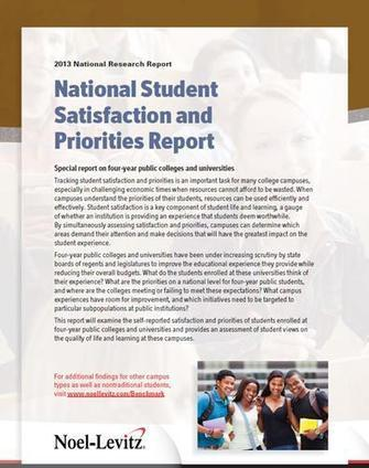 2013 National Student Satisfaction and Priorities Report | Educational Innovation and Distance Education | Scoop.it