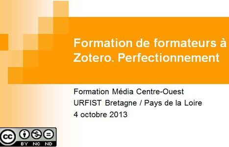 Zotero : support de formation | Gestion-bibliographique-irstea | Scoop.it