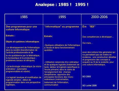 Analepse et prolepse pour une science du numérique à l'École   Education & Numérique   Scoop.it