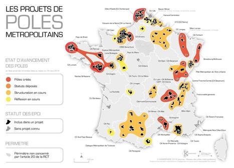 La nouvelle version de la carte des pôles métropolitains en mars 2014 | Intelligence territoriale et développement durable | Scoop.it