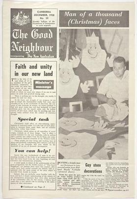 Newsletter - The Good Neighbour, Department of Immigration, No 59, Dec 1958 - Museum Victoria | Faction | Scoop.it