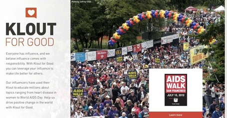 "Klout for Good: AIDS Walk SF « The Official Klout Blog | Klout | ""#Google+, +1, Facebook, Twitter, Scoop, Foursquare, Empire Avenue, Klout and more"" 