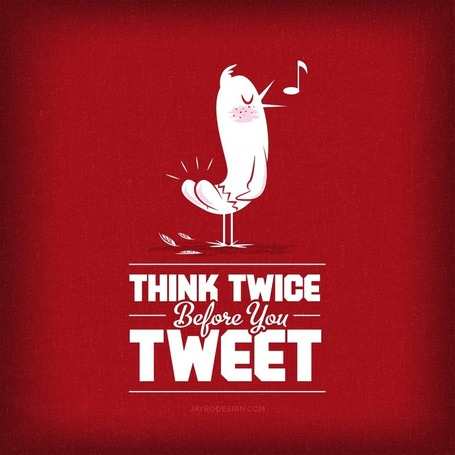Think Twice Before You Tweet! | $ocial ℳ℮dia ↻↻ | Scoop.it