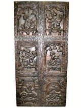 Decorative Panel, Erotic Carving Wall Panels Kamasutra Wooden Door 72 X 36 Inch | Mogul Interior | Vintage Style Decor With Antique Furniture | Scoop.it
