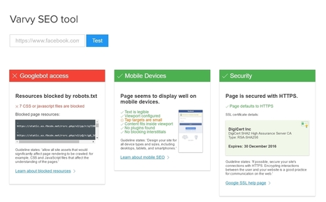 Varvy : un outil pour tester la conformité de son site avec les guidelines de Google | Time to Learn | Scoop.it
