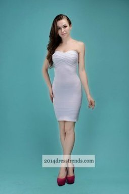 Herve Leger White Strapless Bodycon Bandage Dresses [Bodycon Bandage Dresses] - $162.00 : 2014 Cheap Tailored Prom Dresses, Homecoming Dresses On Sale, Save Up 70% | cheap herve leger | Scoop.it