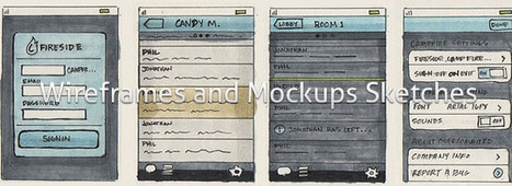 25 Examples of Wireframes and Mockups Sketches | Inspiration wireframe | Scoop.it