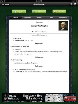 iPad Project: Resume Builder | Go Go Learning | Scoop.it