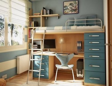 A Loft Bed With Desk | Loft Bed with Slide | Scoop.it