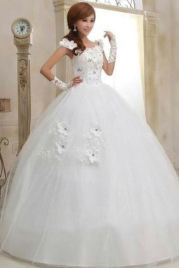 Hot Selling Floral Ball Wedding Gown With Lace-Tie Back | Wedding Accessories | Scoop.it