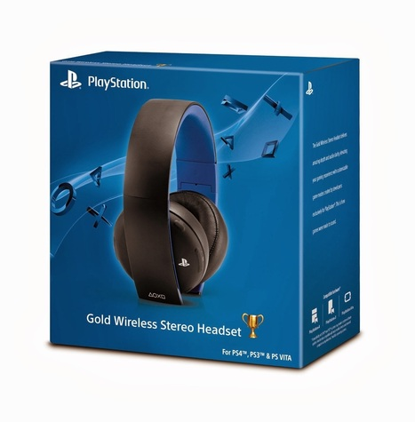 Gold Wireless Stereo Headset for ps3 , ps4 | camps breakers | Scoop.it