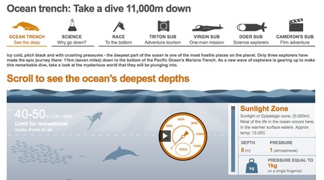 Ocean trenches: Take a dive 11,000m down - BBC interactive | Deep Ocean Biome | Scoop.it
