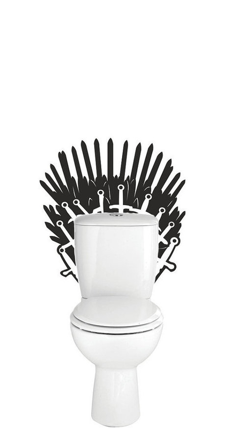 Game of thrones, iron throne toilet decal wall sticker, mural. | GeekGasm | Scoop.it